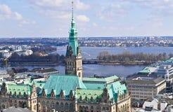 Cityview Гамбурга Стоковая Фотография
