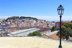 Cityview от Лиссабона Стоковое фото RF
