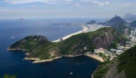 Cityview пляжа Рио-де-Жанейро и Copacabana Стоковая Фотография
