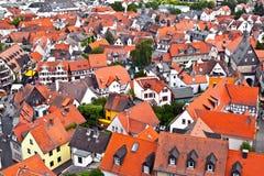 Cityview старого исторического города Oberursel Стоковые Фото
