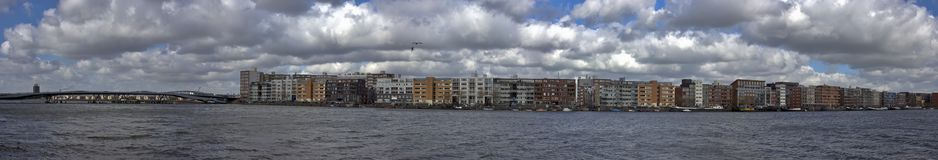 cityview amsterdam, holandia Obraz Royalty Free