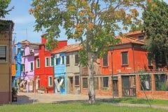 Cityview, Burano, Venezia, Italia Fotografia Stock