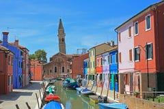 Cityview, Burano, Venezia, Italia Fotografia Stock Libera da Diritti