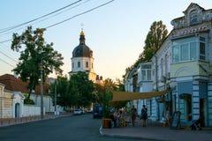 Cityview Ciudad vieja de Kyiv Foto de archivo