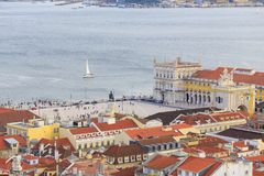 Cityview da Lisbona Fotografia Stock Libera da Diritti