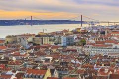 Cityview da Lisbona Fotografie Stock Libere da Diritti