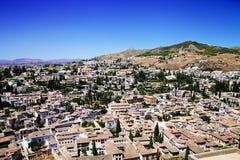 Cityview di Granada Fotografia Stock