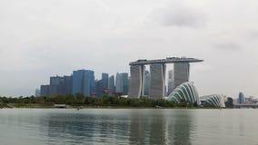 Cityview di Singapore con i giardini dall'opacità della baia al rallentatore archivi video