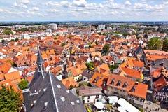 Cityview di vecchia città storica di Oberursel Fotografia Stock