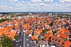 Cityview di vecchia città storica di Oberursel Fotografie Stock Libere da Diritti