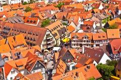Cityview di vecchia città storica di Oberursel, Germania Immagini Stock