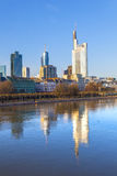 Cityview of Frankfurt with river Royalty Free Stock Photo