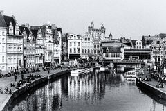 Cityview of Ghent Stock Photos