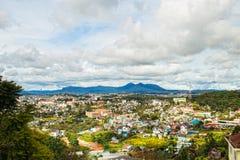 Cityview hermoso en el lat de DA, Lam Dong en Vietnam Fotos de archivo libres de regalías