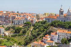 Cityview of Lisboa. City view of Lisboa city, Lisboa, Portugal Royalty Free Stock Photos
