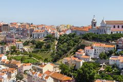 Cityview of Lisboa. City view of Lisboa city, Lisboa, Portugal Stock Photos