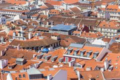 Cityview of Lisboa. Roofs of Liboa buildings, City view of Lisboa, Portugal Stock Photography