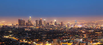 Cityview of Los Angeles Royalty Free Stock Photos