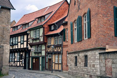 Cityview of medieval city Quedlinburg in Germany Stock Image