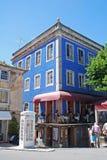 Cityview met traditioneel restaurant, Sintra, Portugal Stock Foto's