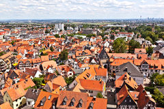 Cityview of old historic town of Oberursel Stock Photo