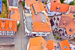 Cityview of old historic town of Oberursel Stock Image