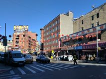 Street in Chinatown, New York royalty free stock photo