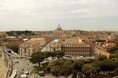 Cityview Rome. View to Rome and Vatican Royalty Free Stock Photo
