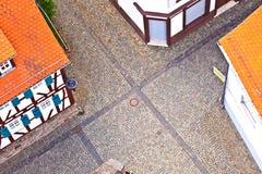 Cityview stary historyczny miasteczko Oberursel fotografia royalty free