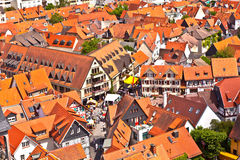 Cityview stary historyczny miasteczko Oberursel, Niemcy Obrazy Stock