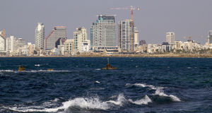 Cityview of Tel Aviv from Mediterranean Sea.Israel Stock Photo