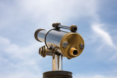 Cityview telescope. Cityview tourist telescope. Viewfinder view. Day light Royalty Free Stock Images