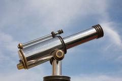 Cityview telescope. Cityview tourist telescope. Right-side view. Day light Stock Images