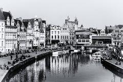 Cityview van Gent Stock Foto's