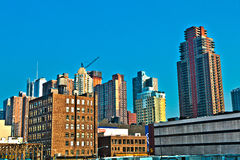 Cityview van New York Stock Foto's