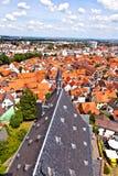 Cityview van oude historische stad van Oberursel Stock Foto's