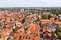 Cityview van oude historische stad van Oberursel Stock Foto