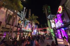 Citywalk Kalifornien arkivfoton