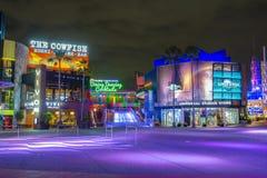Universal Studios at night in Universal Orlando, FL, USA. CityWalk at night at Universal Studios Park in Orlando, Florida, USA stock photography
