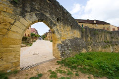 Citywall av Domme Royaltyfri Foto