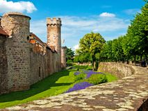 Citywall in France Stock Photos