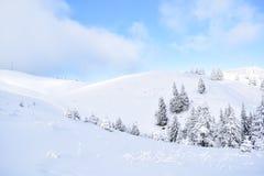 CiucaÈ™ im Winter Stockfotos