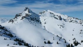 Ciucas山,罗马尼亚,鸟瞰图 股票视频
