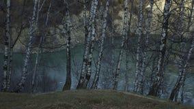 Ciucas山在一秋天天 库存照片