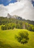 从Ciucas山,罗马尼亚的山风景 库存图片