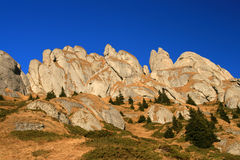 Ciucas cliffs in Romania. The cliffs in romanian mountain Ciucas, in Romania - Europe Royalty Free Stock Images