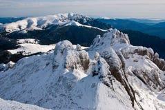 Ciucas mountains. Mountain landscape in Carpathians (Romania), in the winter time, Ciucas mountains Stock Images
