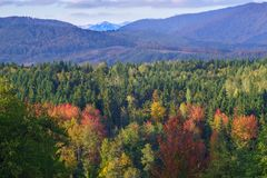 Ciucas Mountains in Autumn Stock Photos