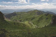 Ciucas Mountains. Gentle slopes in Ciucas Mountains Royalty Free Stock Photography