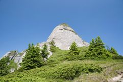 Ciucas Mountains. Geological formations, Ciucas mountain in Romanian Carpathians Royalty Free Stock Image
